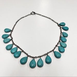 Ann Taylor Silver Turquoise Necklace